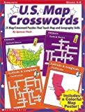 25 Map Crossword Puzzles That Teach Map and Geography Skills, Spencer Finch, 0590769928