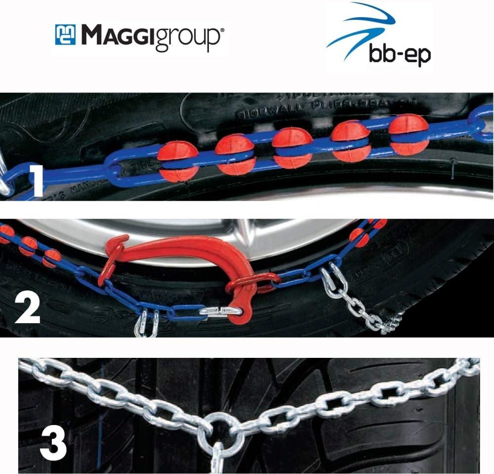 Maggi Group Schneeketten The One Für Die Reifengröße 205 45 R17 Mit Eine Kettenstärke Von 9 Mm Freigaben Ö Norm 5117 Cuna TÜv Auto