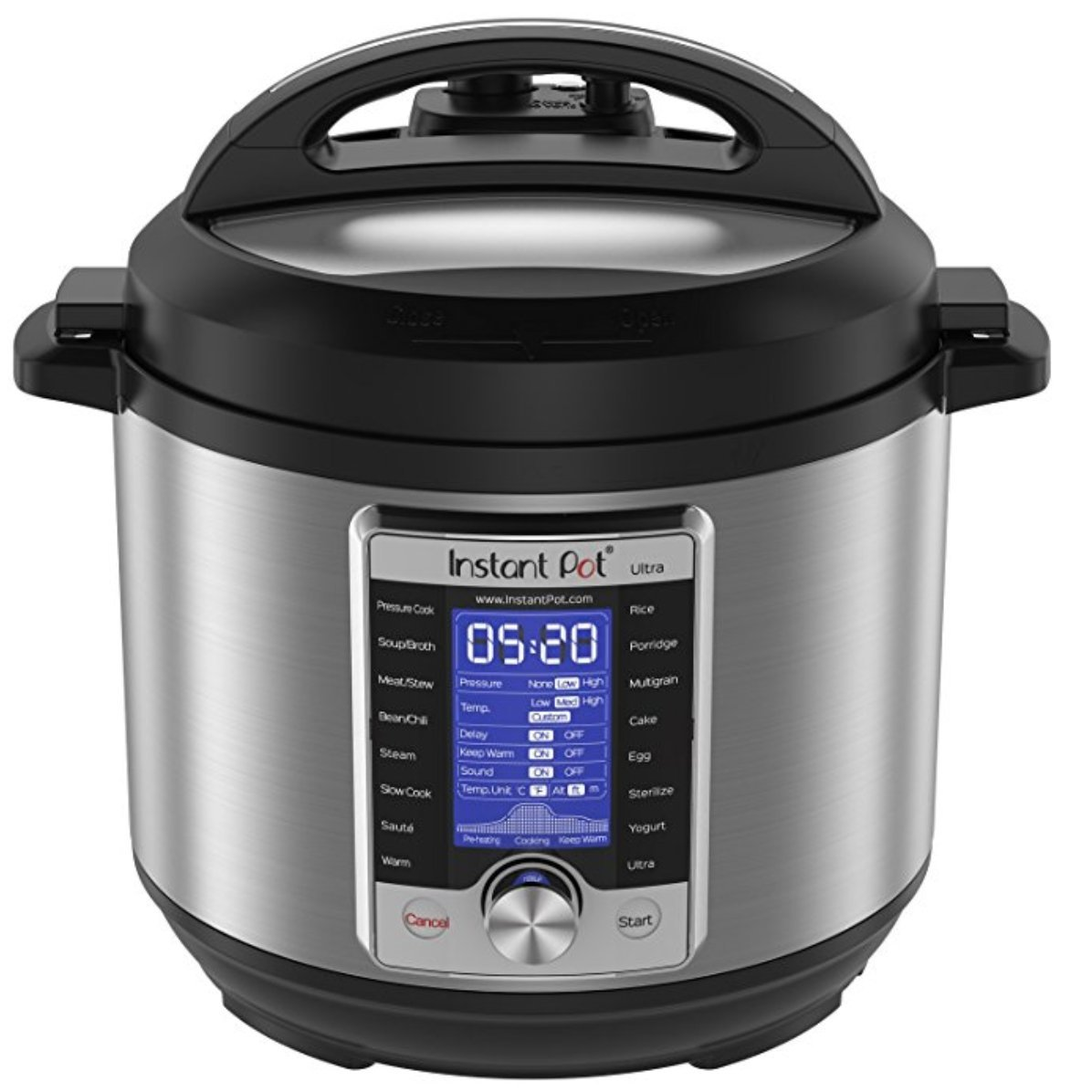 NEWEST Model Instant Pot Ultra 6 Qt 10-in-1 Multi-Use Programmable Pressure Cooker, Slow Cooker, Rice Cooker, Yogurt Maker, Cake Maker, Egg Cooker, Sauté, Steamer, Warmer, and Sterilizer