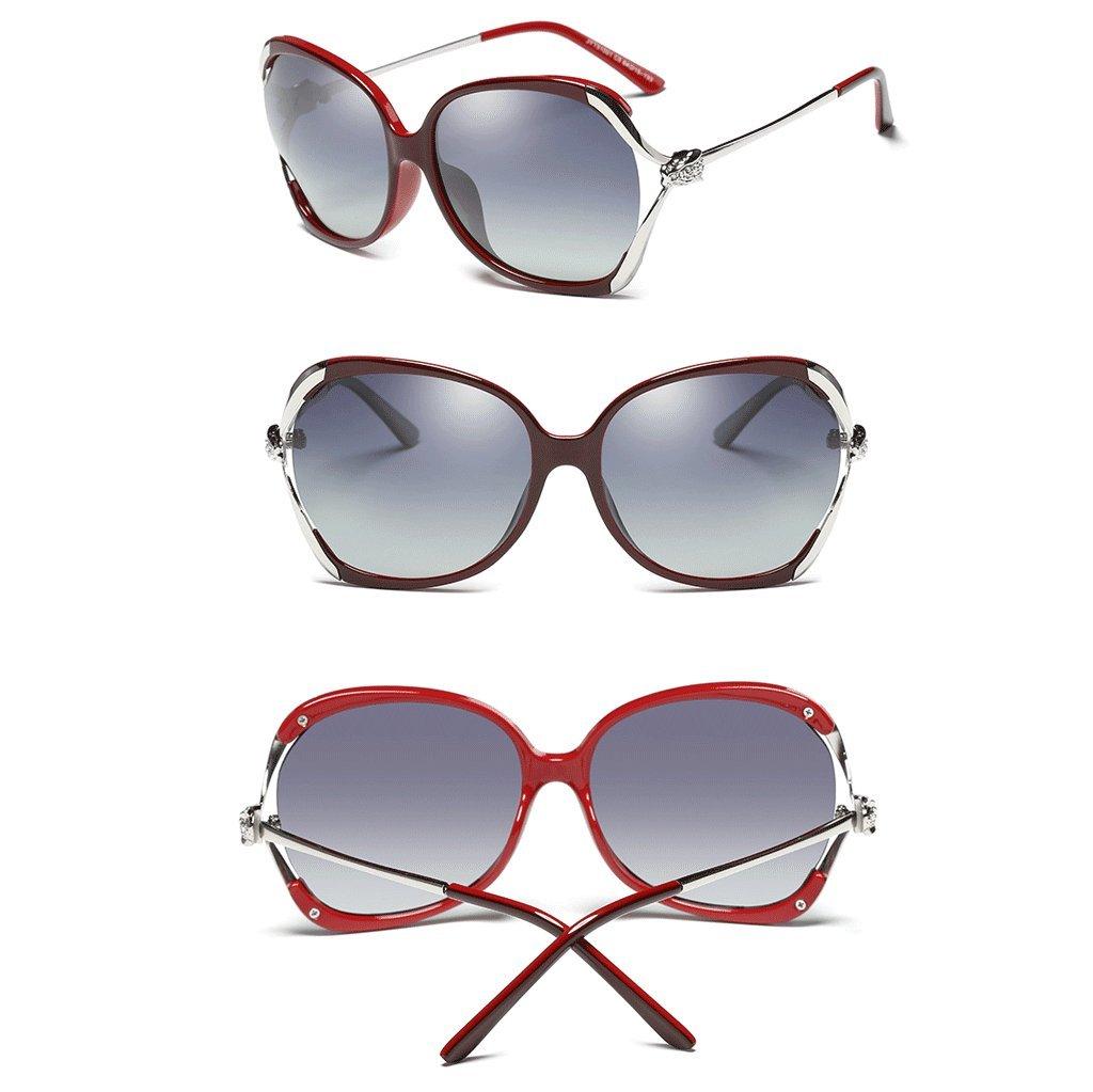 HUACANG Gafas de Sol polarizadas para Mujer, Gafas de Sol Wayfarer Protección UV400 Gafas de protección para Exteriores, Gafas de Sol de Mujer (Color ...