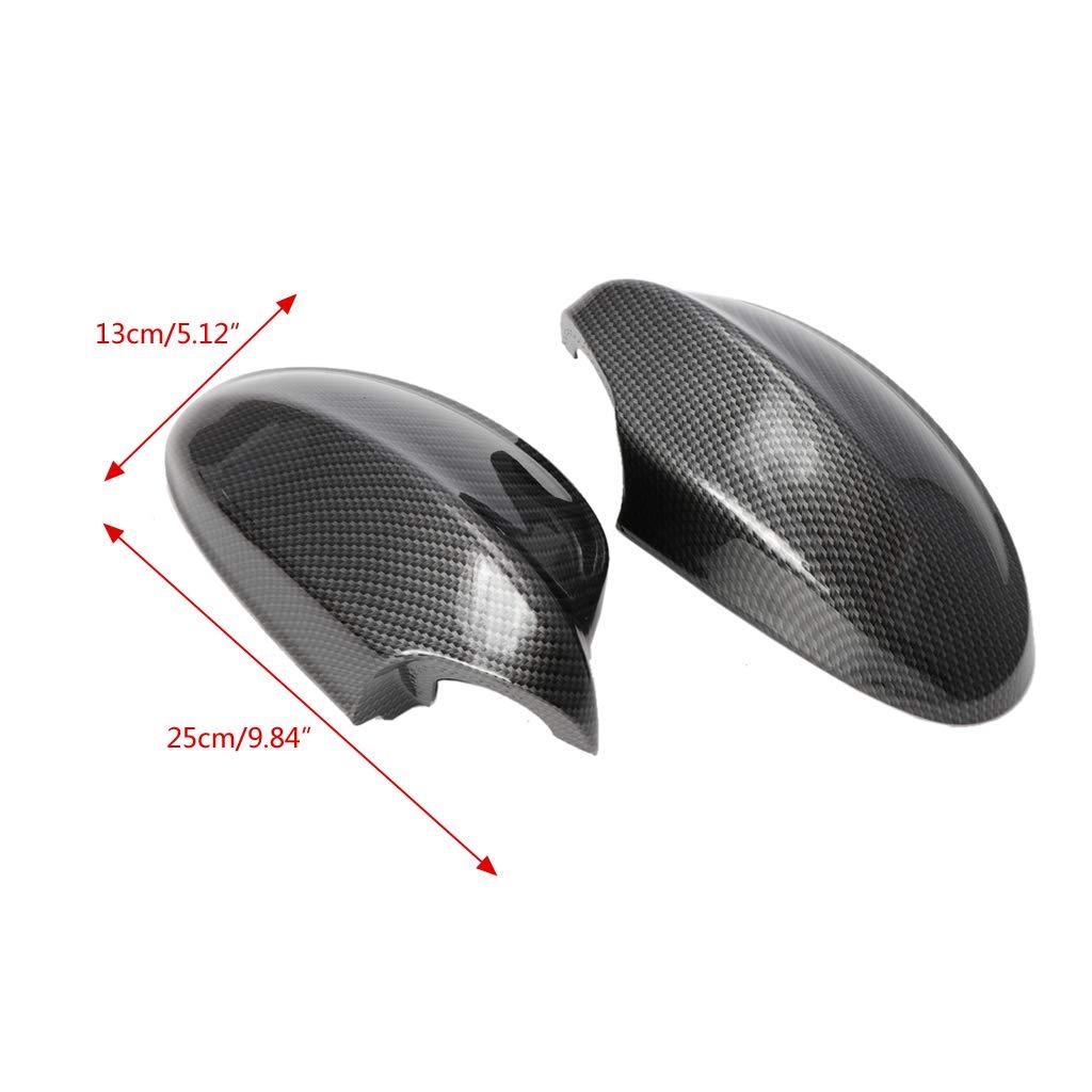 per E90//E91//330i//335i//2005-2008 2 coperture per specchietto retrovisore laterale Huwaioury in fibra di carbonio