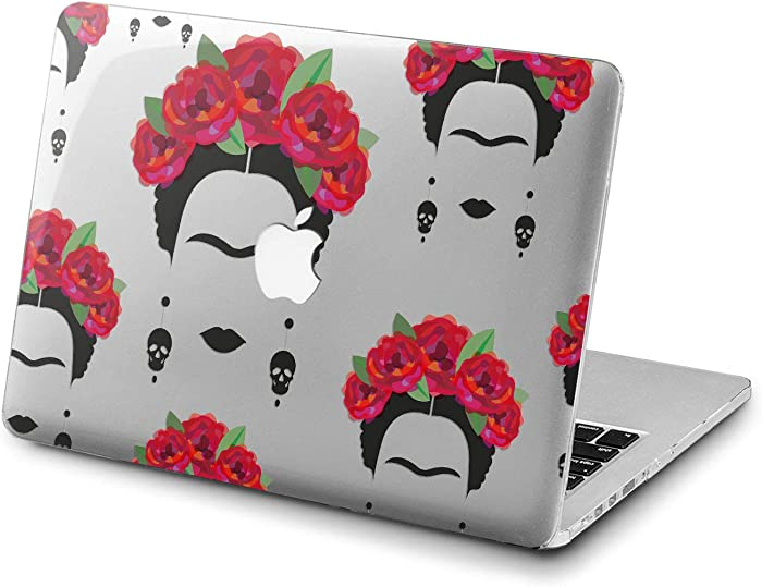 Lex Altern Clear Case for Apple MacBook Air 13 Mac Pro 15 inch Retina 12 11 2020 2019 2018 2017 2016 Flowers Art Plastic Laptop Skull Protective Red Feminist Mexican Cute Shell Women Cover