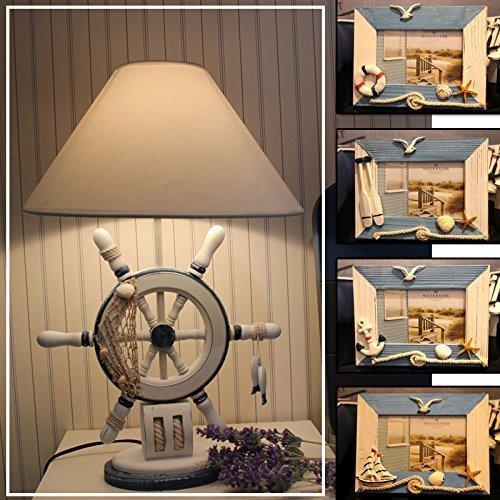 Table Lamps Home Tischlampe-Lampe kreativ stilvoll stilvoll stilvoll d einfache kontinentale Merkmale Kinderzimmer Nachttischlampen, das Ruder  EIN Fotorahmen, der Knopfschalter B07PDDVHSB   Glücklicher Startpunkt  fb224d