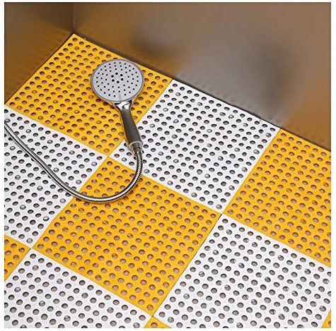 GHHQQZ バスルームのカーペット スプライス 中空彫刻デザイン TPE キッチン バルコニー マット、厚さ1 cm、30x30cm、4個 (Color : D, Size : 18pcs)