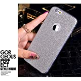 Egotude Rich Sparkle Soft Silicone Glitter Back Cover Case for Apple iPhone 6 & 6S - Silver