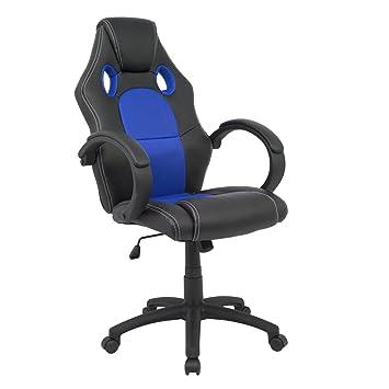 Cashoffice - Silla Racing - Silla Gaming - Silla Gamer - Silla Ordenador Ergonómica - Silla de Oficina - Varios Colores (Azul): Amazon.es: Oficina y ...