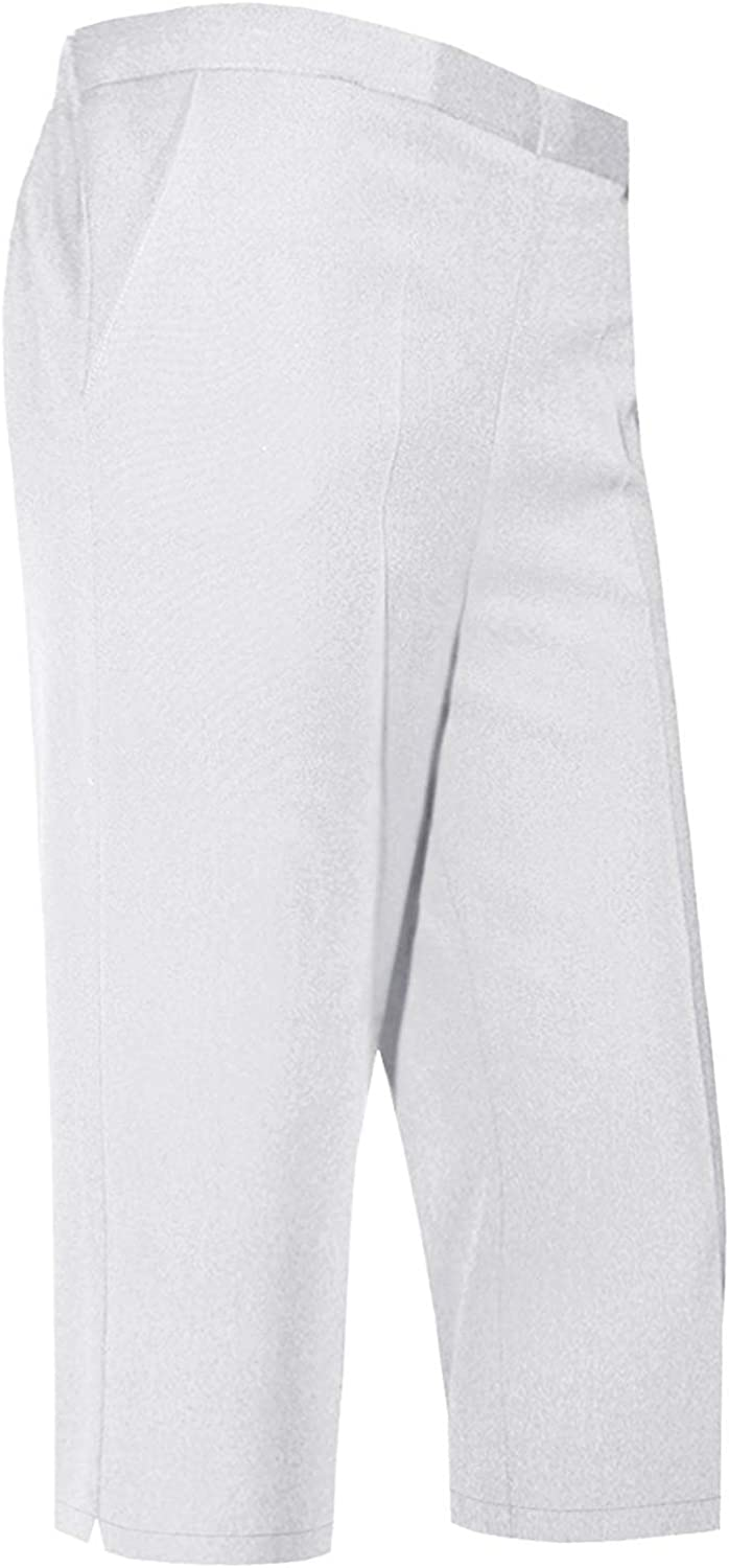 Unbranded New Womens Ladies Elasticated 3//4 Shorts Cropped Capri Trousers Stretchy Pockets Pants