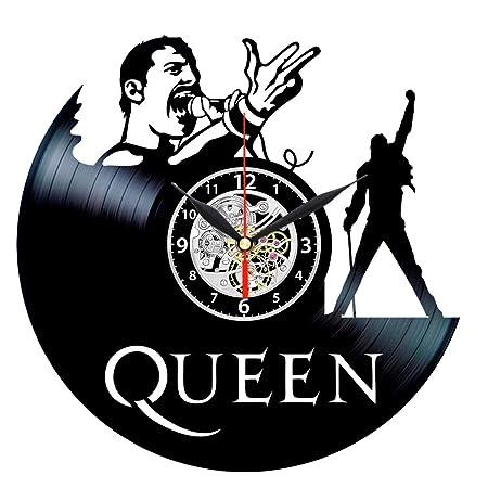 Queen Vinyl Clock – Record Wall Decor – Rock Music Gifts for Men