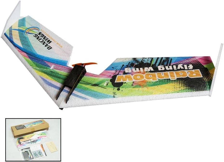 Goolsky E0511 Rainbow Aile Volante V2 RC Avion 800mm Envergure Delta Wing A/éronef propulseur KIT