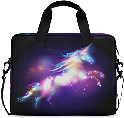 JSTEL Cat and Dog Laptop Shoulder Messenger Bag Case Sleeve for 14 inch to 15.6 inch with Adjustable Notebook Shoulder Strap