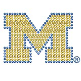 NCAA Michigan Wolverines Bling Automotive Decal, 5'', Yellow