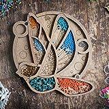 Wooden Bead Organizer, Wood Bird Beads Tray Container, Beadwork Craft Organization, Bead Storage, Magnet Needle Keeper, Storage Holder