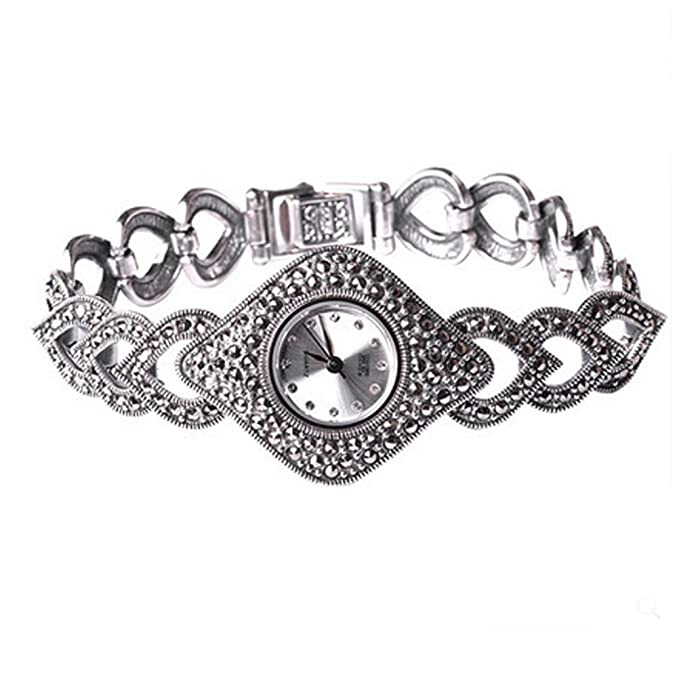 Amazon.com: Thail Sterling Silver Marcasite Womens Antique Watch Womens Jewelry: Watches