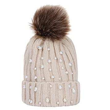 643094f46e8 Amazon.com   Kids Winter Warm Rhinestone Hat