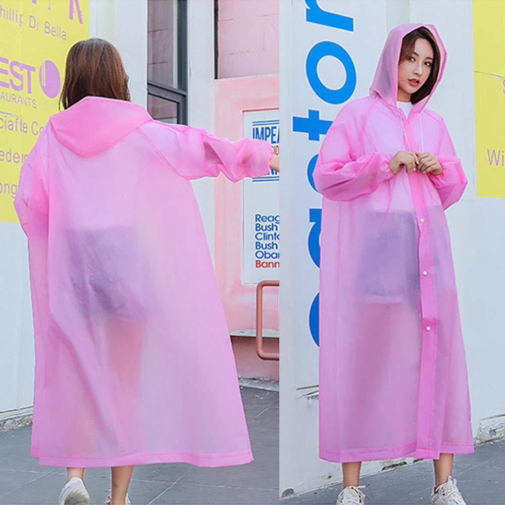 Poncho Ligero De Emergencia para Exteriores para Hombres Mujeres FOONEE XL Rain Ponchos para Adultos Impermeable Reutilizable con Capucha con Cord/ón