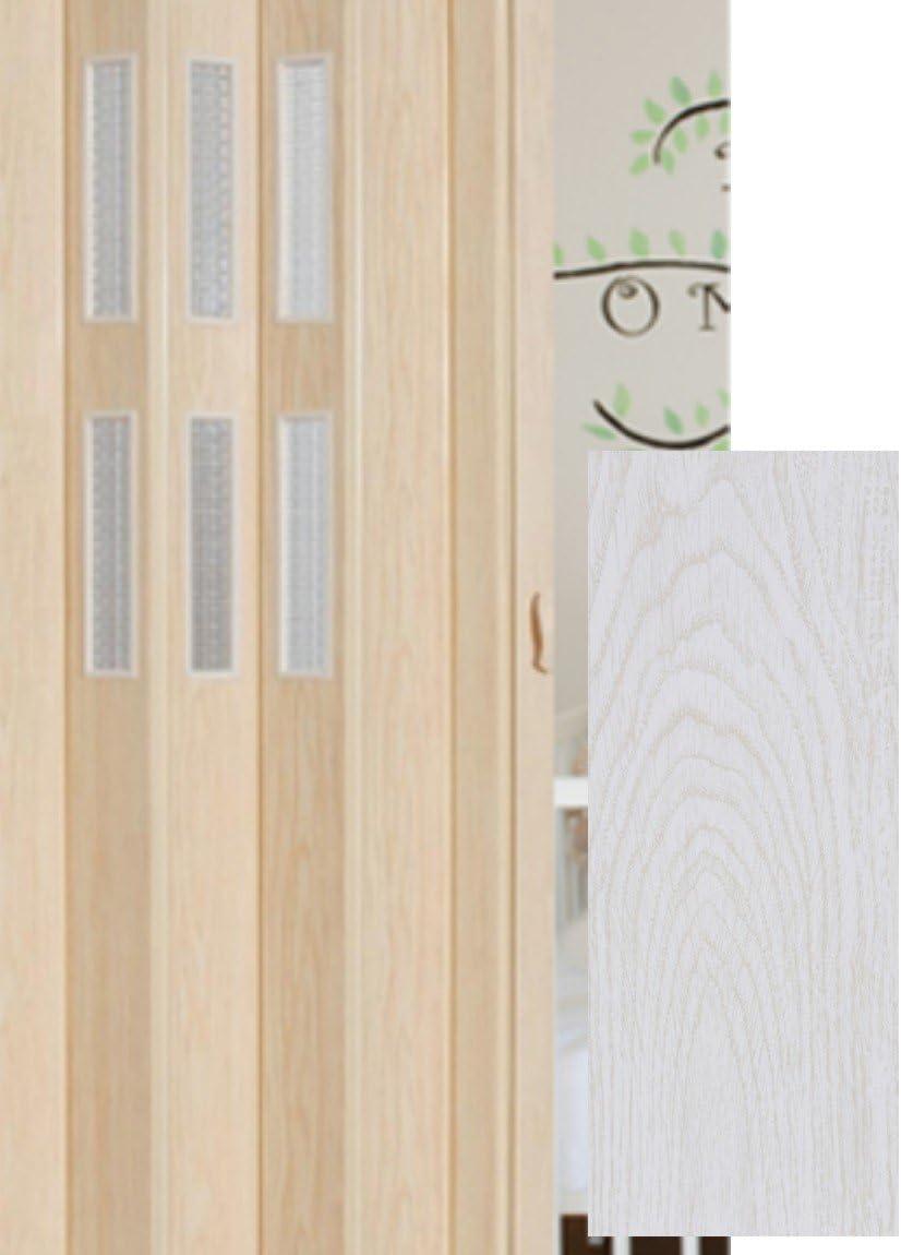 Puerta plegable corredera puerta blanco pulido con Class Altura 202 cm ancho de montaje de ventana de hasta 84 cm Doble pared Perfil nuevo top Calidad: Amazon.es: Bricolaje y herramientas