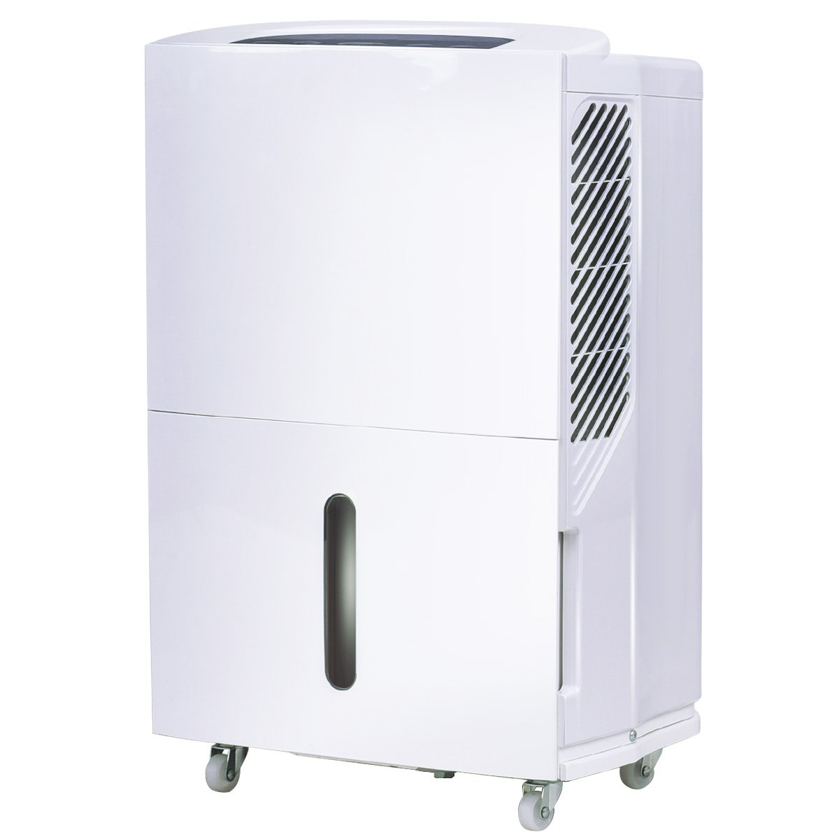Costway Portable Energy Star Dehumidifier for Basement or Large Room Electric Dehumidifier Machine Safe Humidity Control Timer w/ Washable Air Filter (70-pint)