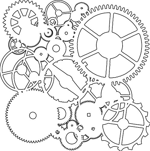 Crafters Workshop 6x6 Template (Crafters Workshop Framing Template, 6 by 6-Inch, Gears)