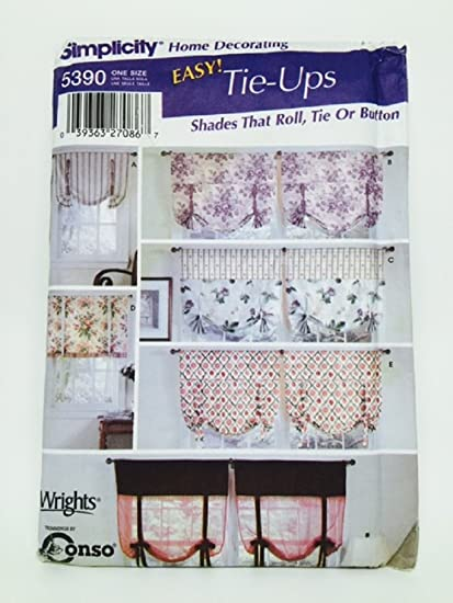 Amazon Simplicity 5390 Sewing Pattern Window Shades Roll Tie