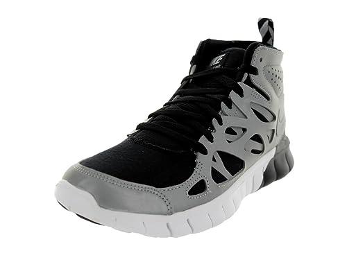 nike free run 2 sneakerboot for women black metallic silver