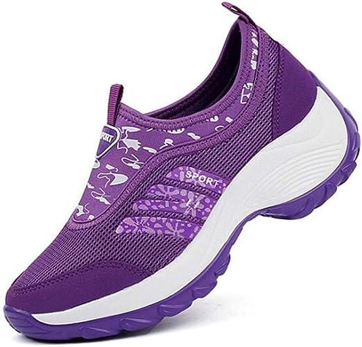 YXF - Zapatillas de Running para Mujer Morado Morado 37: Amazon.es: Productos para mascotas