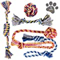 Dog Chew Toys - Puppy Teething Toys - Dog Toy Set - Rope Dog Toy - Medium and Small Dog Chew Toys - Chew Toys for Dogs - Dog Toy Pack - Washable Cotton Rope for Dogs