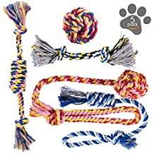 Pets&Goods Dog Chew Toys - Puppy Teething Toys - Dog Toy Set - Rope Dog Toy - Medium and Small Dog Chew Toys - Chew Toys for Dogs - Dog Toy Pack - Washable Cotton Rope for Dogs