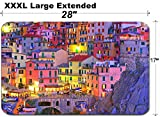 MSD Large Table Mat Non-Slip Natural Rubber Desk Pads IMAGE ID: 11322816 Italian sea village Manarola in Cinque Terre