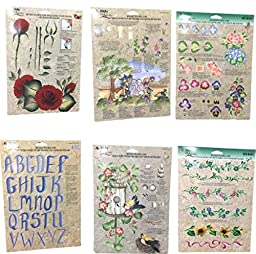 Donna Dewberry ONE Stroke Reusable Technique Painting Guide Sheets Assortment...