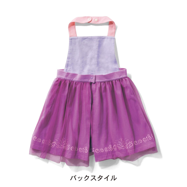 4413e9bce80f6 Amazon.co.jp:  ベルメゾン  ディズニー エプロンドレス プリンセス エプロン (キッズ) ラプンツェル サイズ:70~80   服&ファッション小物