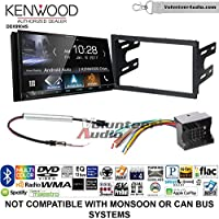 Volunteer Audio Kenwood DDX9904S Double Din Radio Install Kit with Apple CarPlay Android Auto Bluetooth Fits 2003-2005 Volkswagen Golf, Jetta, Passat