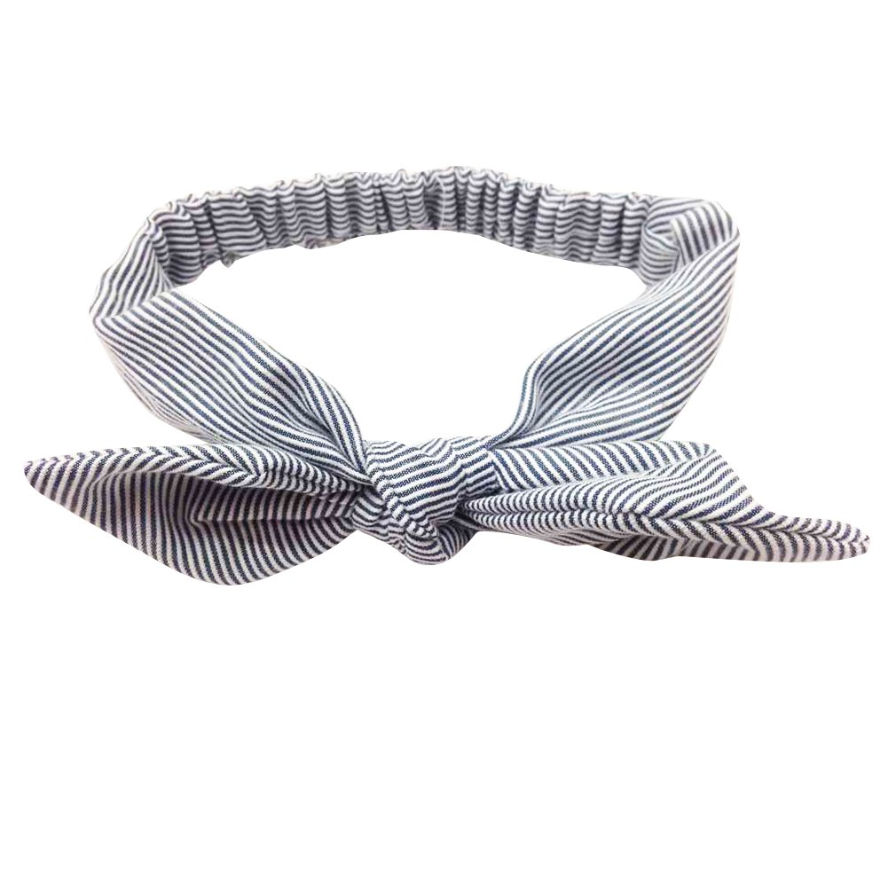 Yazilind Süßes Kopfband mit Hasenohren, elastisches Haarband, süß, für kleine Mädchen 1206T0003-BK