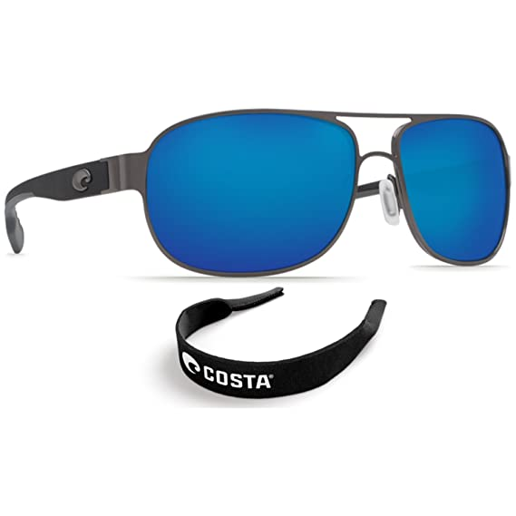 2eb8187300b2e Costa Del Mar Conch Gunmetal - 580G Blue Mirror Glass Lens w  Free Costa  Neopren  Amazon.in  Clothing   Accessories