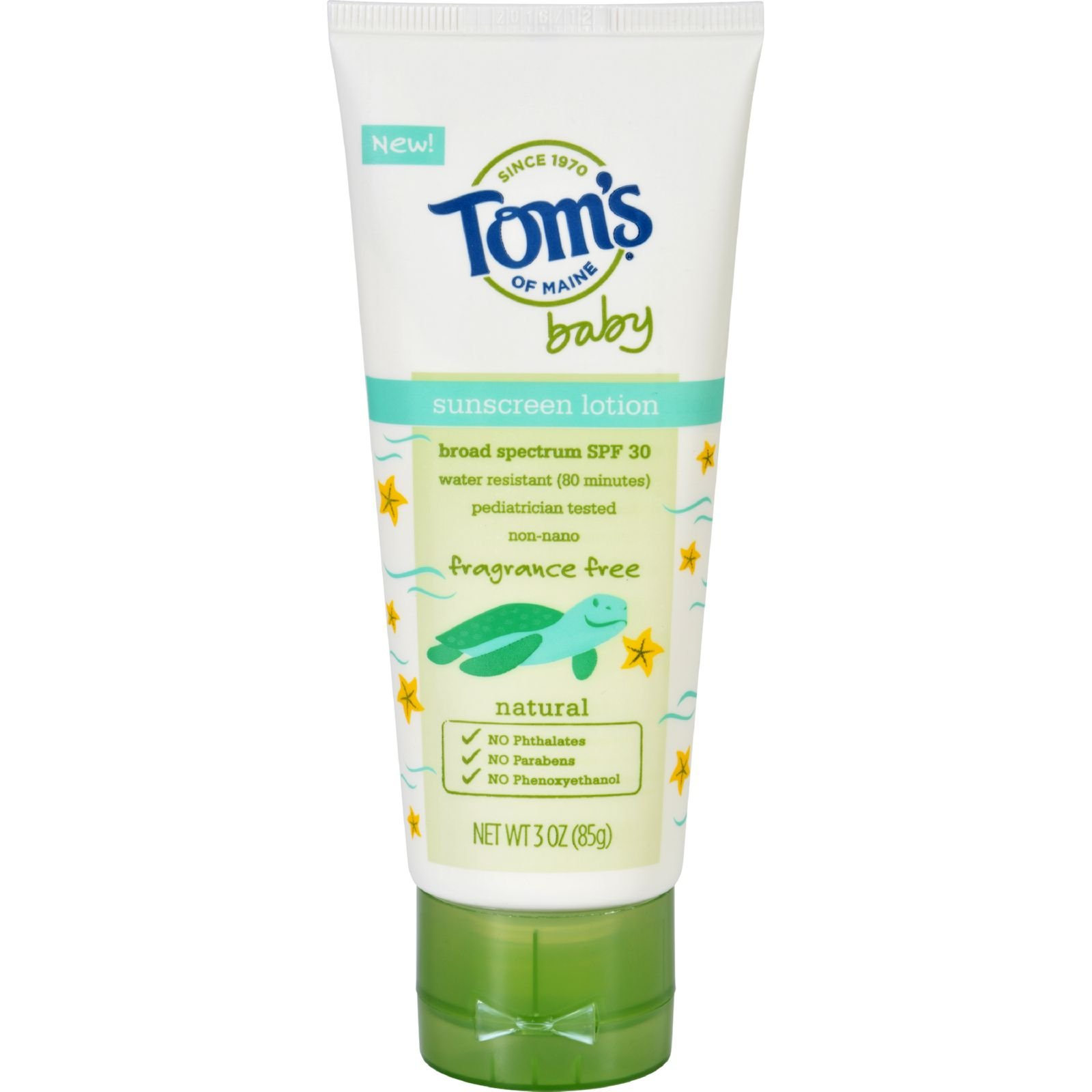 Toms of Maine Sunscreen - Baby - Fragrance Free - 3 oz - Case of 6 (Pack of 2) by Tom's of Maine (Image #1)