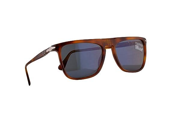 Persol 3225-S Gafas De Sol Marrón Con Lentes Azul Claro 56mm ...