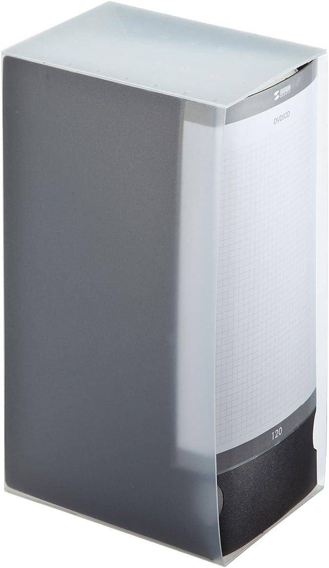 SANWA (Japan Brand) 120 Large Capacity File CD Case, Portable DVD/VCD Storage, Polypropylene Protective CD Wallet, Binder, Holder, Booklet with Customizable Index for Car, Home, Office (Black)
