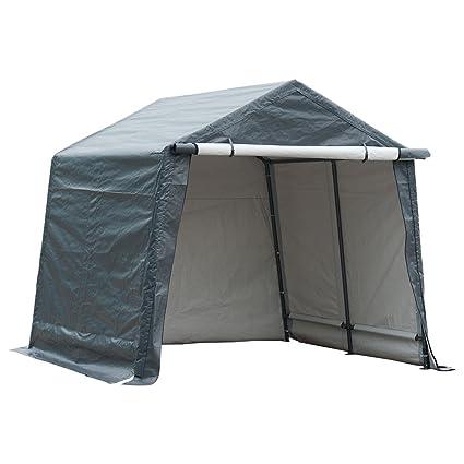 Swell Abba Patio Storage Shelter 10 X 10 Feet Outdoor Carport Shed Heavy Duty Car Canopy Grey Interior Design Ideas Skatsoteloinfo