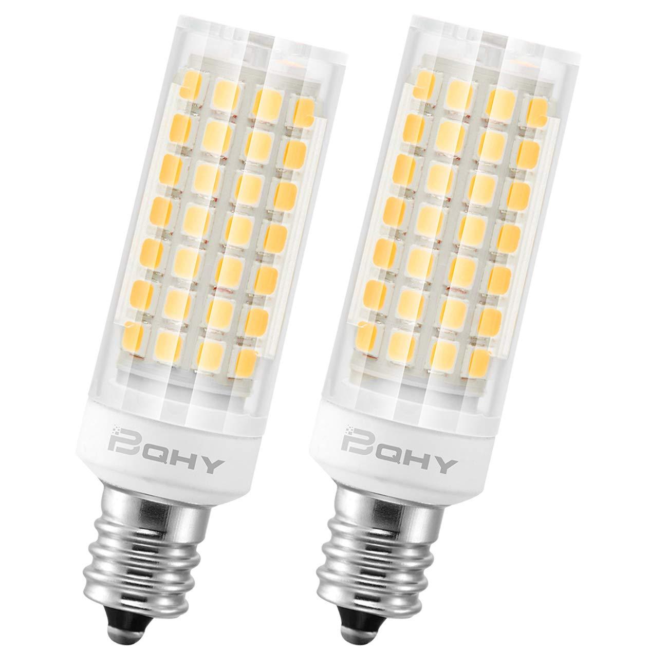 BQHY E12 LED Lampe, 6W LED Birnen, Ersatz für 75W Halogen Lampen, Nicht dimmbar,360 Abstrahlwinkel Tageslichtweiß 6000K AC85-265V 650lm CRI >90, 2 Pack