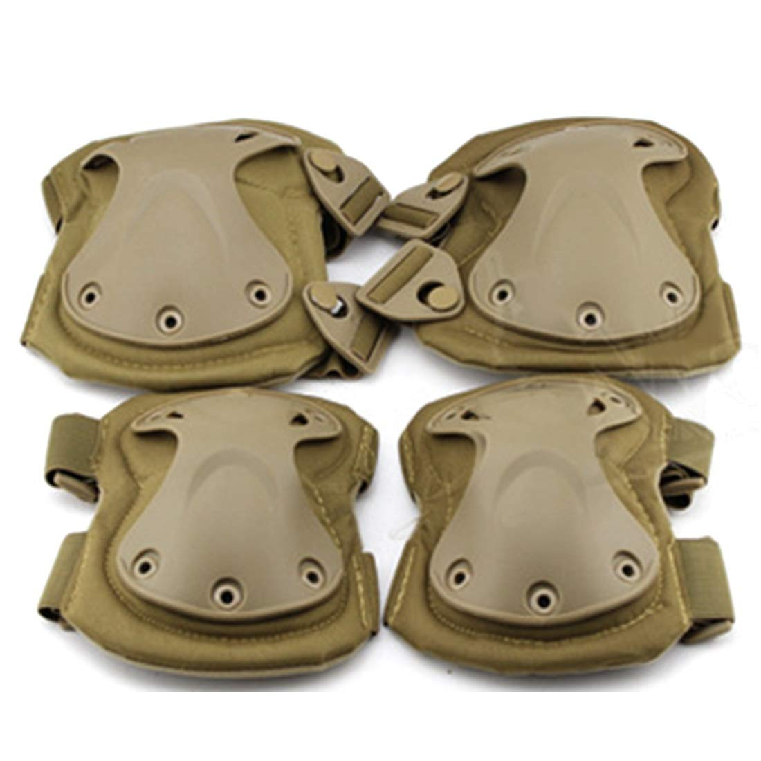 AIYAMAYA EVA Protective Gear Outdoor Riding Hiking Knee Pads Elbow Suit Field Tactical Equipment Knee Pads Elbow Suit (Style : Mud (PA-03-T) (Mm))
