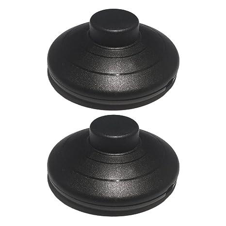 2 interruptores de pedal de pie negro 2 o 3 núcleos redondos en línea prensatelas para pie y lámpara de pie mesa luces de mesa interruptor de ...