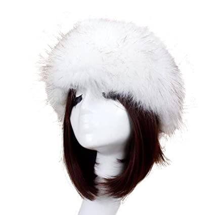 Image Unavailable. Image not available for. Color  Coper Women Winter Soft  Faux Fox Fur Ski Headdress Hat Warm Cap ... 373b2a653196