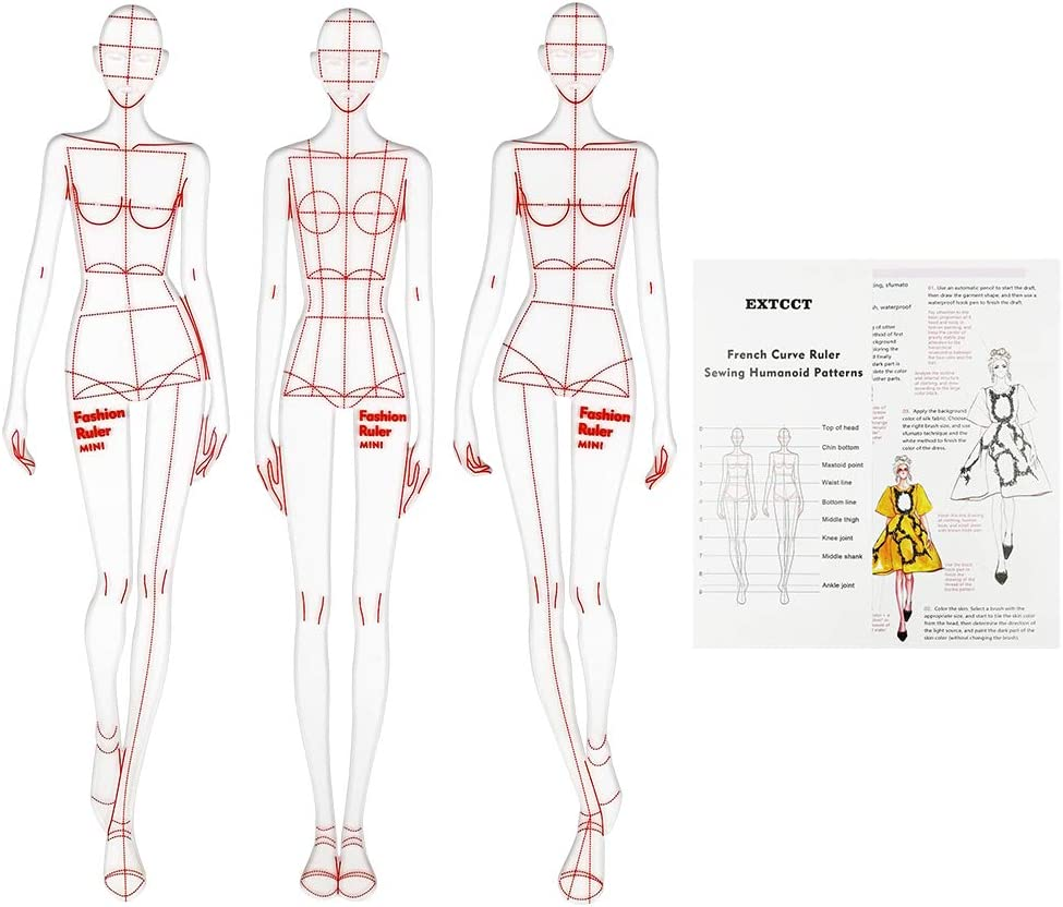 Amazon Com Extcct 3pcsf Fashion Drawing Ruler French Curve Ruler Sewing Humanoid Patterns Design Clothing Measuring French Curve Rulers A4 Pattern Paper Draft Drawin Arts Crafts Sewing