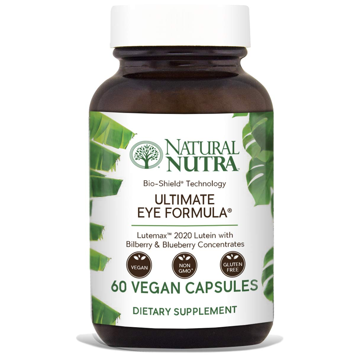Natural Nutra Ultimate Eye Formula with Lutein, Blueberry and Bilberry Extract, Macular Degeneration and Night Vision Supplement, 60 Capsules by Natural Nutra