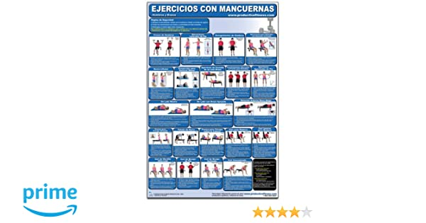 Ejercicios con Mancuernas - Hombros y Brazos - Cartel - Dumbbell Exercises - Shoulders and Arms (Spanish Edition) CDS-SP (Poster): Andre Noel Potvin, ...