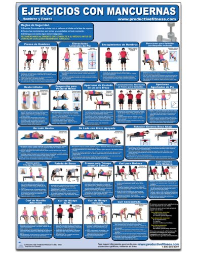 Ejercicios con Mancuernas - Hombros y Brazos - Cartel - Dumbbell Exercises - Shoulders and Arms (Spanish Edition) CDS-SP (Poster) (Spanish) Poster – May 1, ...