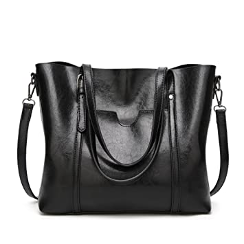 e54f841634a3 Buy imentha Black Tote Designer Bags Famous Brand Women 2017 Handbags  Purses and Bucket Bag Crossbody for Shoulder Online at Low Prices in India  - Amazon.in