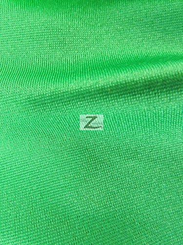SOLID STRETCH SPANDEX SWIMSUIT COSTUME NYLON FABRIC - Kelly Green - 58