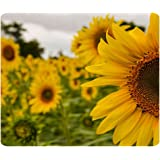 1 X Custom Yellow Mellow Sunflower Gaming Mouse Pad - Durable Office Accessory and Gift