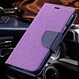 Brand Affairs Luxury Mercury Goospery Fancy Diary Wallet Flip cover For samsung galaxy grand / grand neo / grand neo plus / 9080 / 9082PURPLE WITH BLUE FLIP