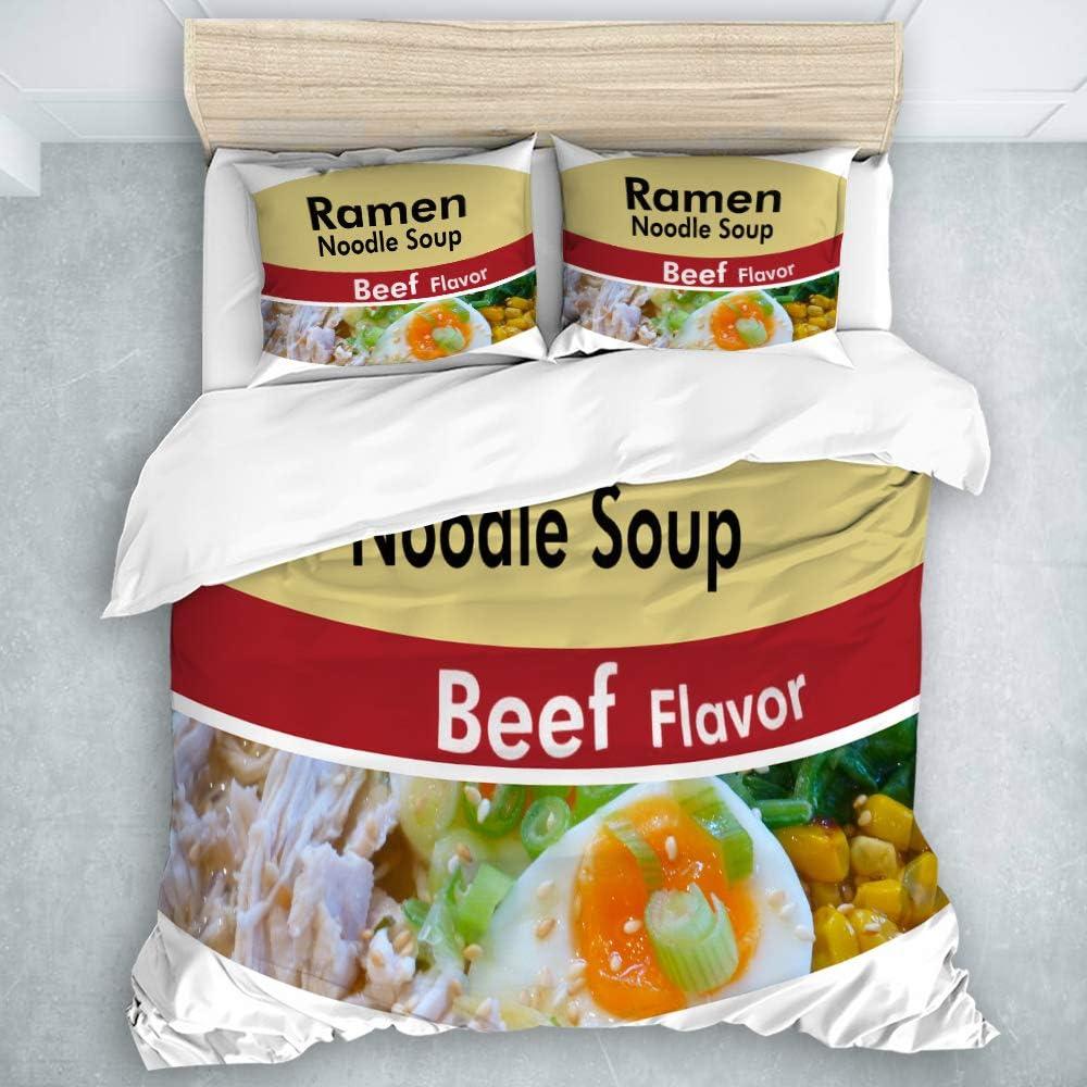 Amazon.com: JOSENI Duvet Cover Set Ramen Noodle Soup Beef ...